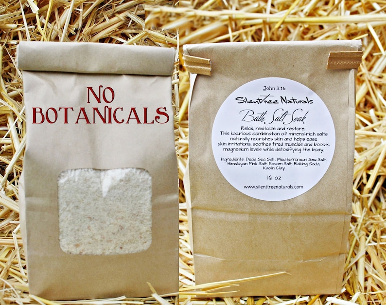 Bath Salt Soak-Unscented Natural Skincare Detox image 0