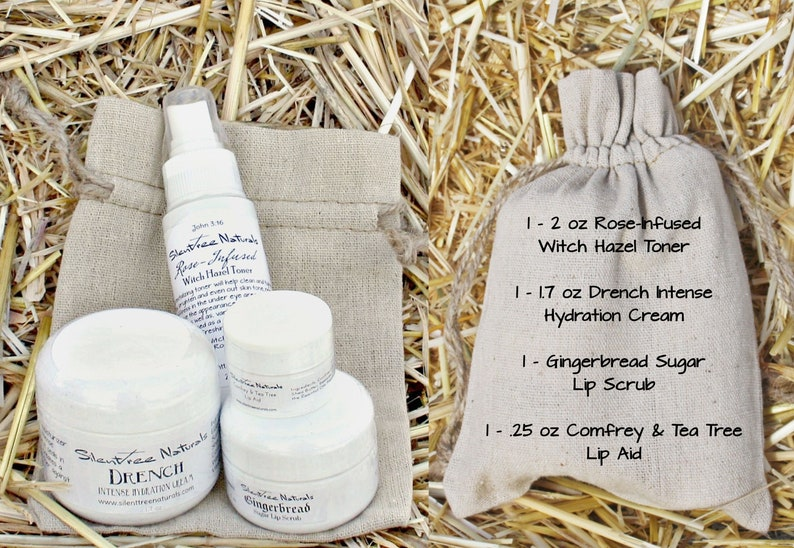 Natural Skincare Gift Bag Set-Hydration Cream Gingerbread Lip image 0