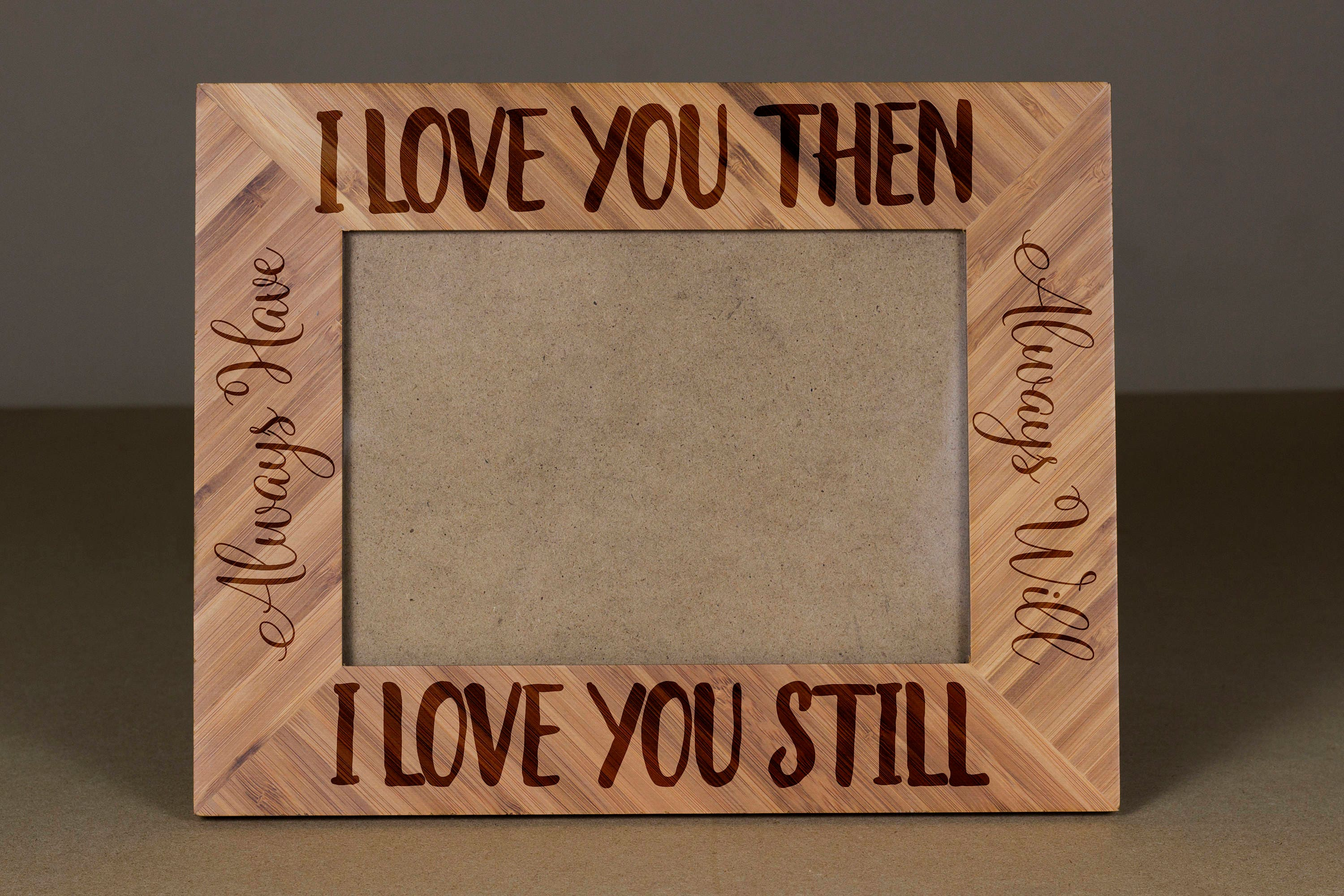 I Love you Picture Frame,Engraved Photo Frame, Wooden Photo Frame ...