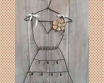 Dress form jewelry holder