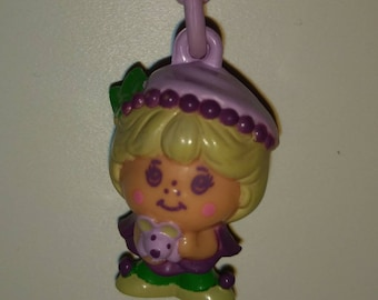 Vintage Charmkin/Mollyberry with choker hanger/Miniature Figurine/Collectible Toy/Jewelry Charm