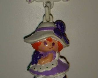 Vintage Charmkin/Blossom with Clip/Miniature Figurine/Jewelry Charm/Collectible Doll