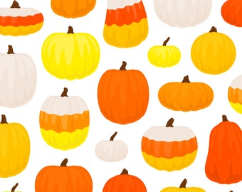 Candy Corn Pumpkin Clipart - Carved Pumpkin Seed Jack O Lantern Fall Autumn Halloween Clip Art - For Commercial Use