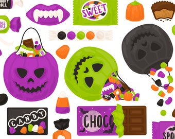 Halloween Candy Trick Or Treat Clipart - Candy Bar Chocolate Pumpkin Autumn Clip Art - For Commercial Use