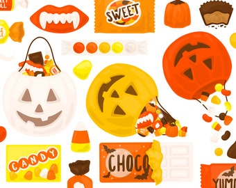 Candy Corn Candy Trick Or Treat Clipart - Candy Bar Chocolate Pumpkin Autumn Fall Clip Art - For Commercial Use