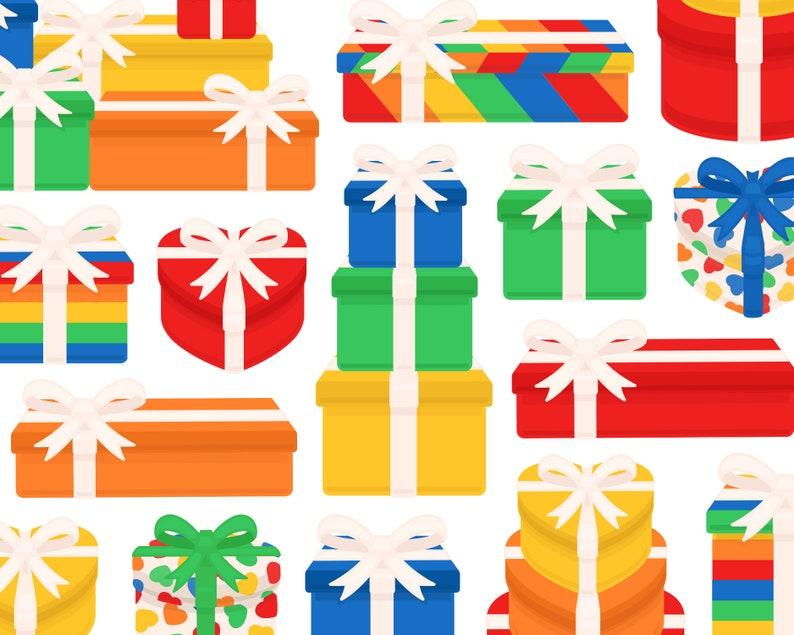 Rainbow Present Clipart Birthday Gift Clip Art Colorful