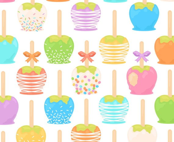 Candy Apple Clipart Summer Clipart Rainbow Clipart Caramel Etsy