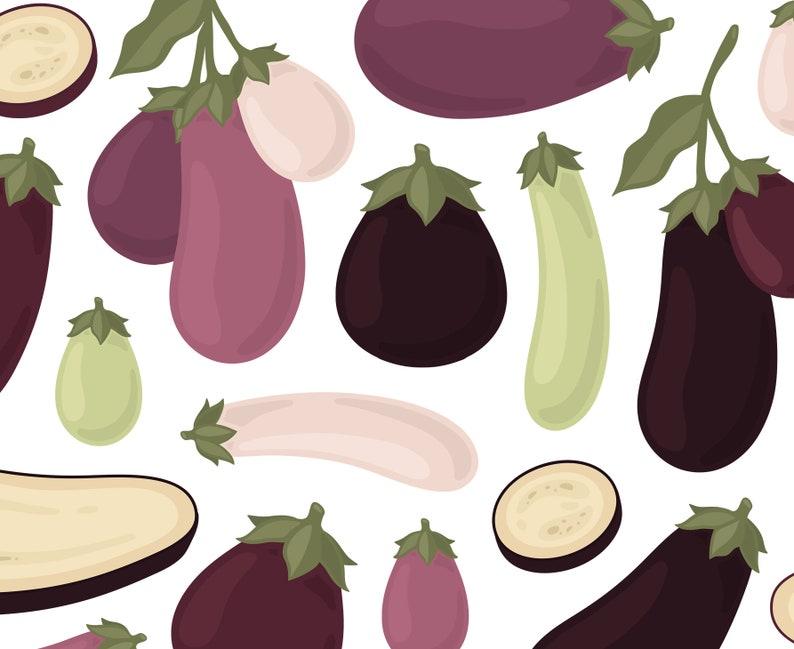 Eggplant Clipart Veggie Clipart Garden Clipart Vegetable Etsy