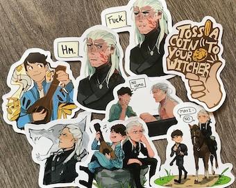 The Witcher  Sticker Set Geralt Jaskier