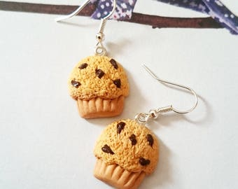 Fimo chocolate Muffins earrings