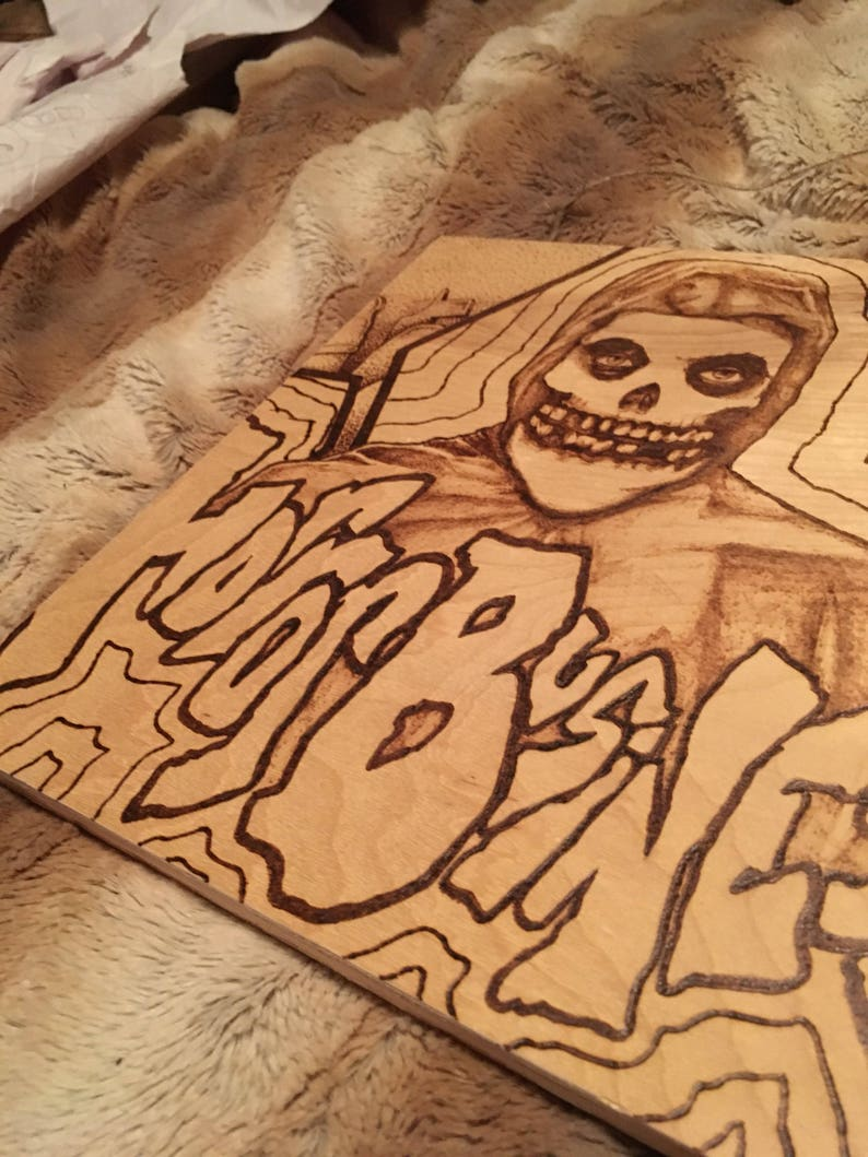 Misfitscrimson Ghosthorror Business Woodburning Pyrography Etsy