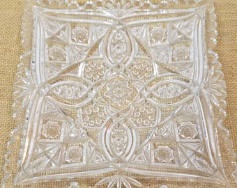 Cut Glass Square Plate