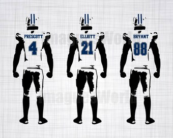 Sport  Football player decal,  with SVG, DXF, PNG Commercial & Personal Use