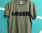 Vtg RaRE 90 39 s LOSER SUB POP Record Label T shirt by Anvil Kurt Cobain Soundgarden Foo Fighter Mud Honey Medium Size Hard To Find