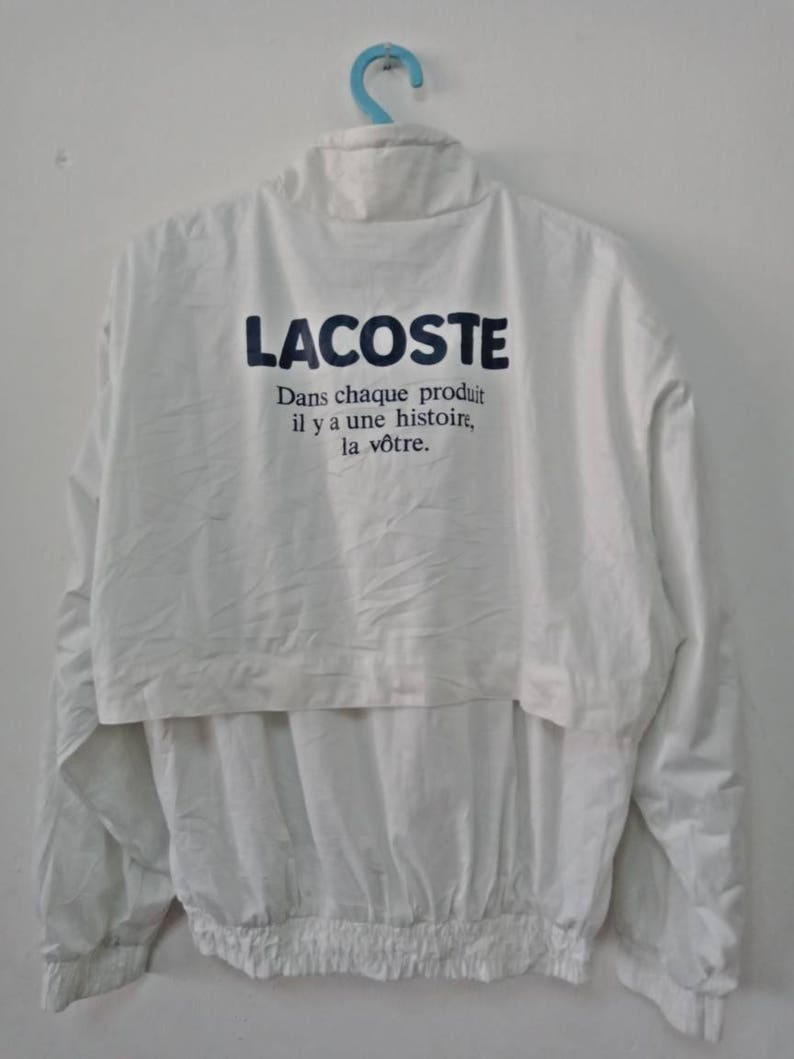 Vtg 90/'s LACOSTE Windbreaker Tennis Jacket Small Size BIG LOGO With Nice Used Condition