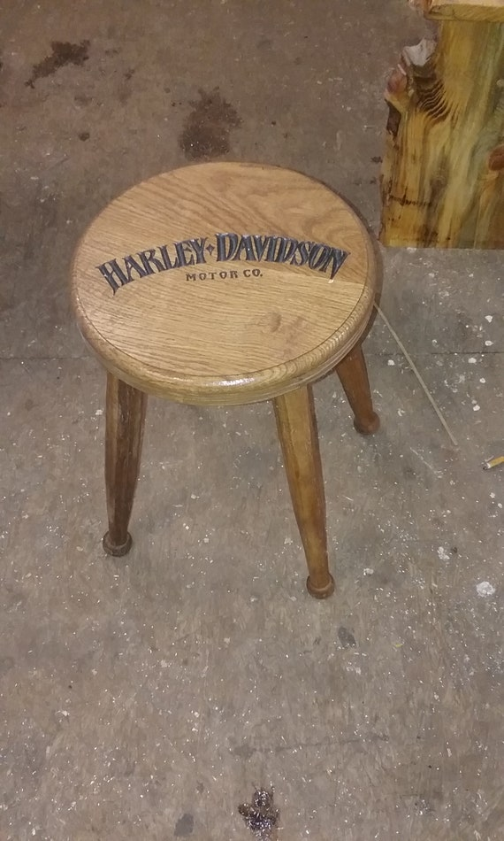 Sensational Wooden Motorcycle Stool Approx 17 Inches Tall 11 Inches Around Short Links Chair Design For Home Short Linksinfo