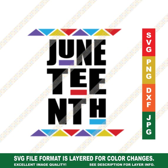 Juneteenth Svg Martin Font 90s Style Cricut Or Silhouette Cut Etsy