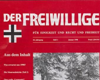 Der Freiwillige Magazine January 1998 WWII