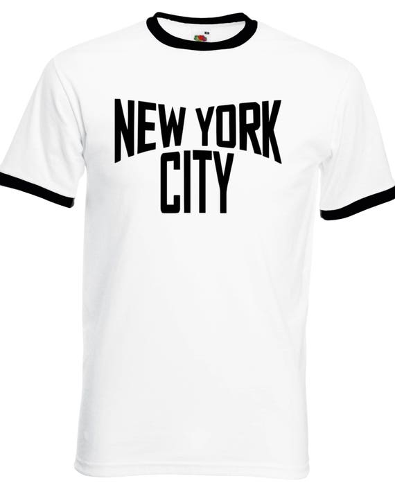 New York City Ringer T-Shirt Various Sizes and Colours  b2cb9279831