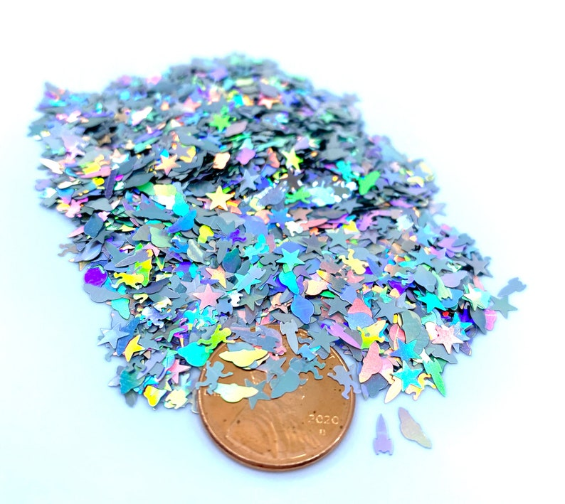 Space Ship rockets stars planets astronaut glitter shape Solvent Resistant Glitter Lips For tumblers Polyester confetti for slime