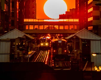 Chicagohenge | Chicago EL | Chicago Photography | Affordable Wall Art | Color Photography | Fine Art Photography | Gift | Home Decor