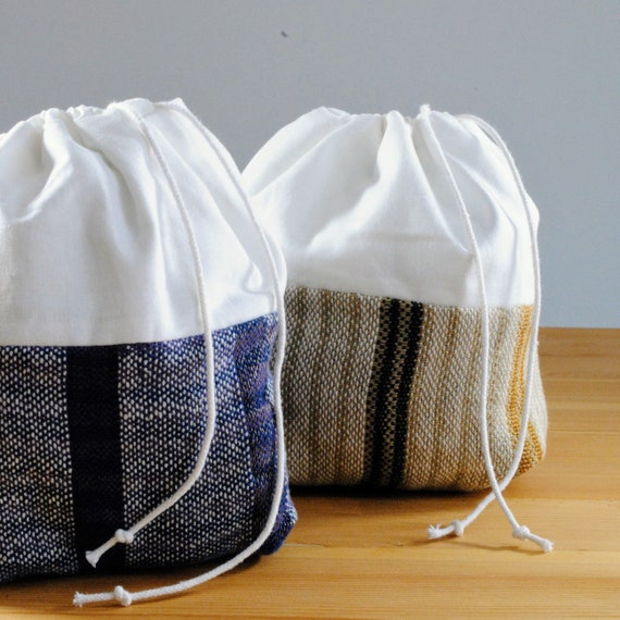 Woven Draw String Make-up Bag