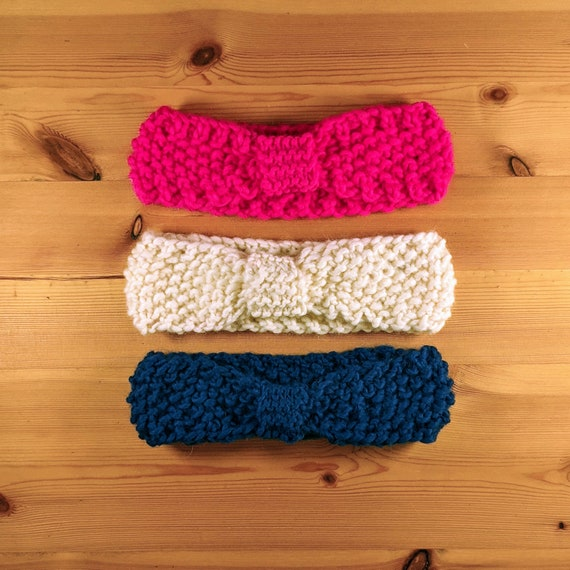 Knitted Knot Headband
