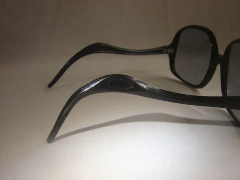 8d7022bcd 1960's BIG Sunglasses Black Frames Grey Lenses | Etsy