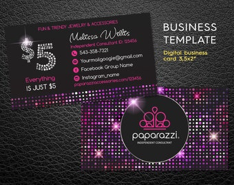 Paparazzi business cards etsy paparazzi business cards paparazzi card paparazzi independent consultant jewelry consultant jewelry business card pbc2 accmission Image collections