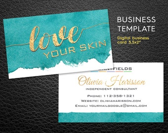 Rodan and fields business cards etsy rodan fields business card personalized business card custom rodan and fields business card independent consultant card fbccfo Choice Image