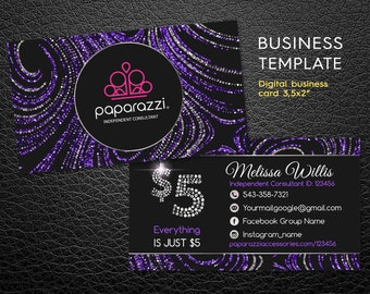 paparazzi business cards free personalized paparazzi jewelry consultant card glitter paparazzi marketing - Paparazzi Business Card Template
