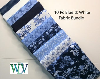 Oats and blue jeans fat quarter bundle of 8