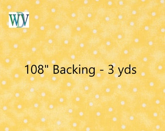 """108"""" Quilt Backing – Blender Dot – 3 Yards – Queen Size – Multiple Colors FREE SHIPPING"""