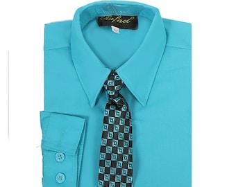 Magen Kid Boy Formal Bridal 5 Pc Set Suit Size 1-18 Indigo Blue 2 Buttons