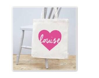 personalised tote shoppeing bag