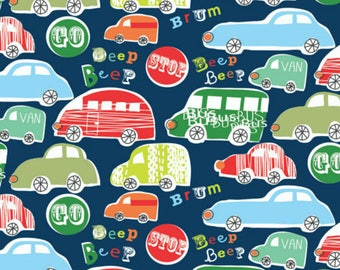 Kids cotton fabric child English designer - Dashwood Studio - Tut tut! -by 50cm (110 x)
