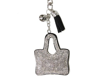 Pave Purse First Keychain