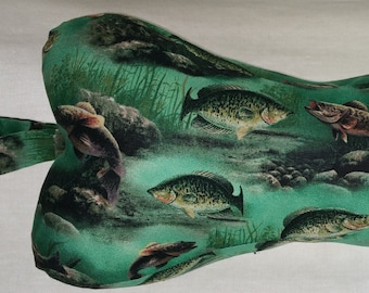 """Comfy Contoured Neck Pillow - """"Gone Fishing"""""""