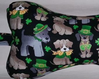 """Comfy Contoured Neck Pillow - """"St. Patrick's Pups"""" St. Patrick's Day"""
