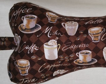 """Comfy Contoured Neck Pillow - """"Jitterz"""" for Coffee Lovers!"""