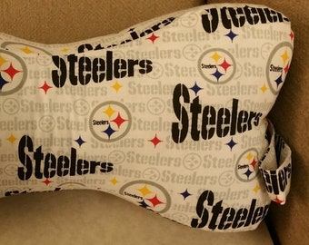 416409ea016 Comfy Contoured Neck Pillow - Pittsburgh Steelers White