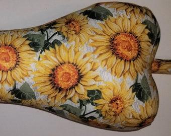 Comfy Contoured Neck Pillow - Sunflowers