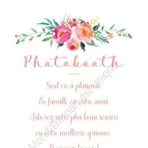 Affiche Explication Photobooth Pancarte Mode D Emploi Etsy