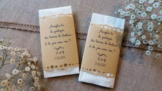 10/x 10/mouchoirs Mr /& Mrs de mariage pour la joie larmes