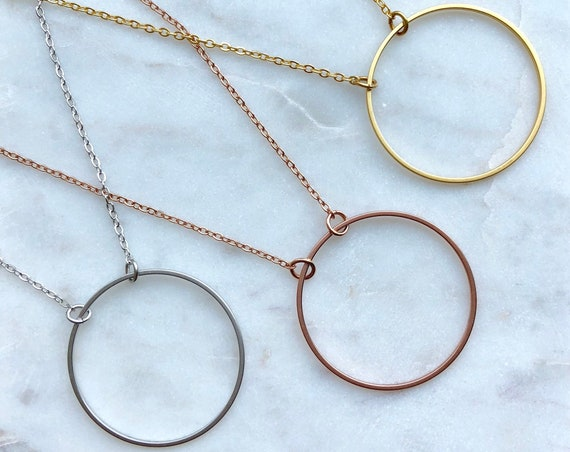 Circle necklace- gold / silver / rose gold