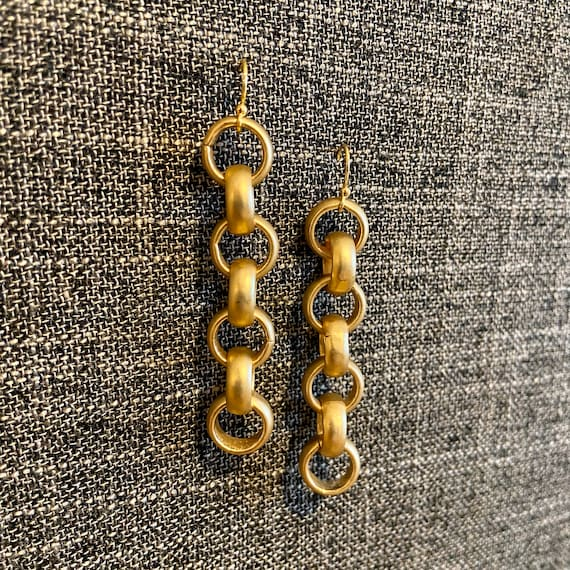 Big links earrings - gold
