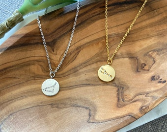 Zodiac necklace / gold - silver / constellation necklace / celestial jewelry / astrological sign necklace / delicate necklace / astrology