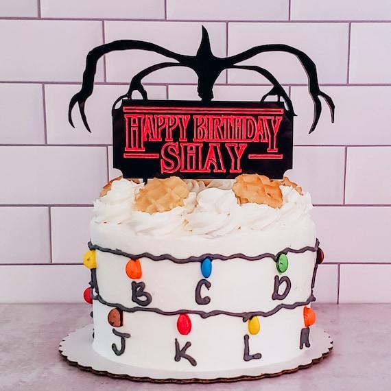 Happy Birthday Cake Topper Custom Cake Decoration Stranger Things Bundle