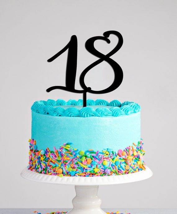 Outstanding Eighteenth Birthday Cake Topper Hello 18 Cake Topper 18Th Etsy Funny Birthday Cards Online Elaedamsfinfo