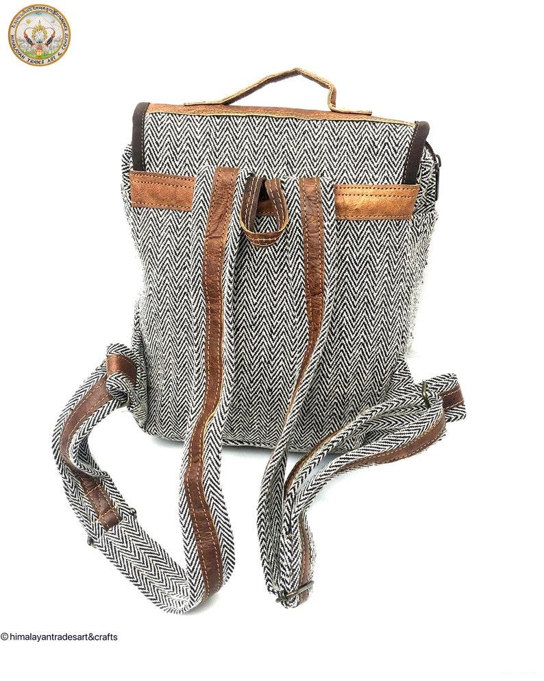 Backpack Fair Trade Backpack Cotton Leather BackpackBoho backpacksatchel BackpackFashion BackpackHandcrafted Backpack Ethnic Backpack